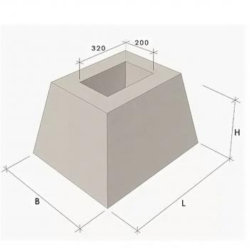 Фундамент для плит забора ФО-2