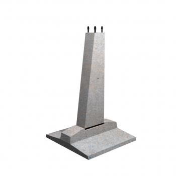 Фундамент составной Ф2х2,8-2(плита П1.5х2,2 , стойка К2.3-2)