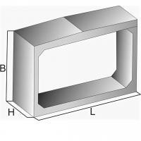 Звено трубы прямоугольное ЗП 12.100