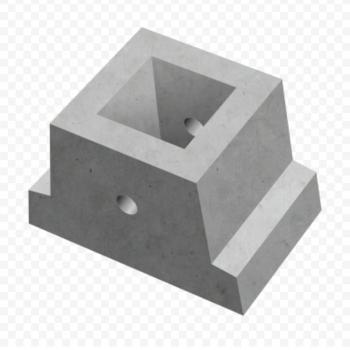 Блок фундаментный Ф1